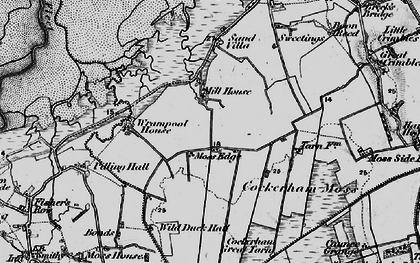 Old map of Wrampool Ho in 1896