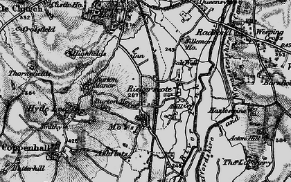 Old map of Ashflats in 1898