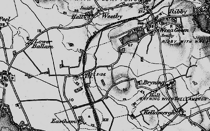 Old map of Wrea Brook in 1896