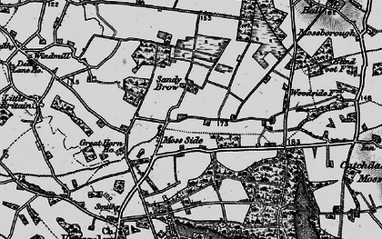 Old map of Moss Side in 1896