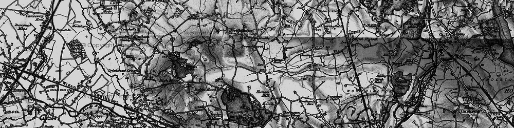 Old map of Wrightington in 1896