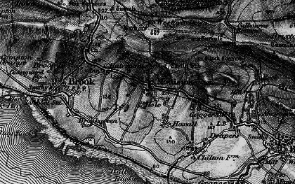 Old map of Westover Down in 1895