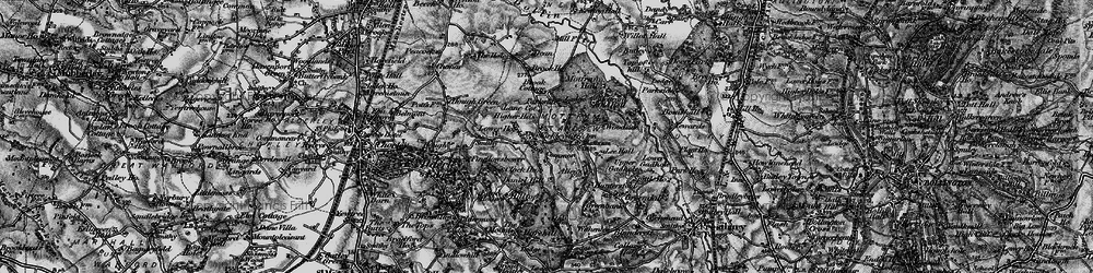 Old map of Adder's Moss in 1896