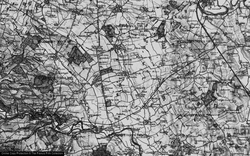 Old Map of Historic Map covering Abbey Close in 1897