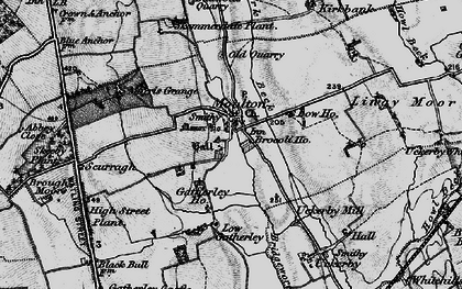 Old map of Abbey Close in 1897