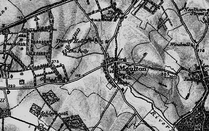 Old map of Ashley Heath Stud in 1898