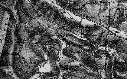 Old map of Mount in 1895