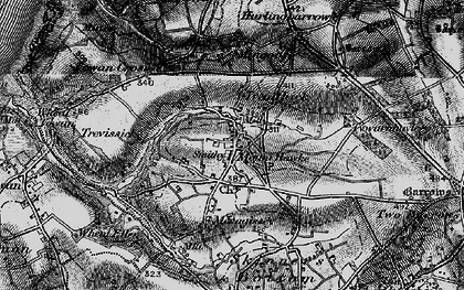 Old map of Mount Hawke in 1895