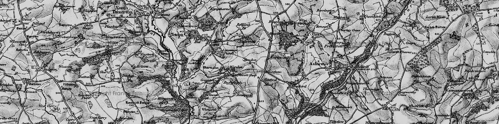 Old map of Yendon in 1895