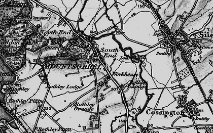 Old map of Mountsorrel in 1899