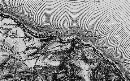 Old map of Windbury Point in 1895