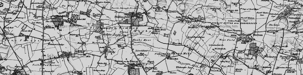 Old map of Whitecarr Beck in 1898