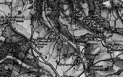 Old map of Much Birch in 1896