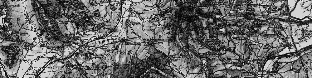 Old map of Much Dewchurch in 1896
