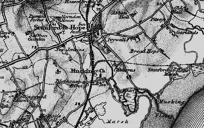 Old map of Mucking in 1896