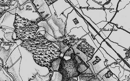 Old map of Authorpe Grange in 1899