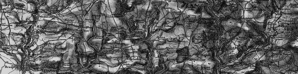 Old map of Whitefield Down in 1898