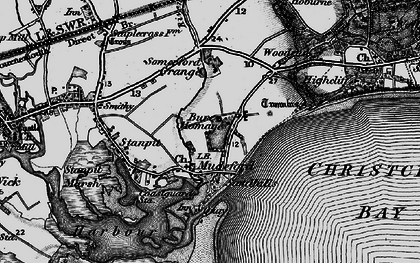 Old map of Mudeford in 1895