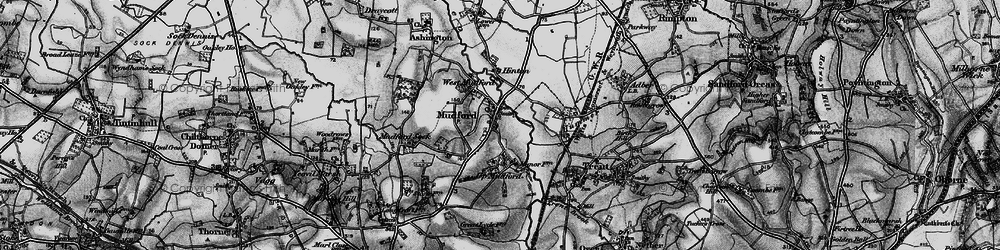 Old map of Mudford in 1898