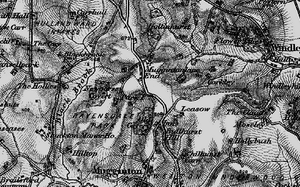 Old map of Leasow in 1897