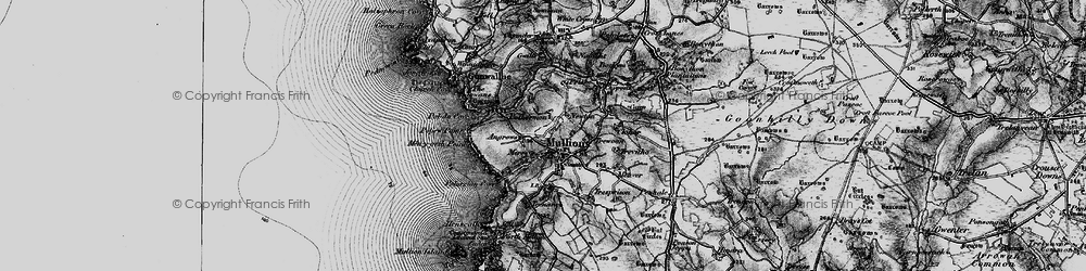 Old map of Mullion in 1895