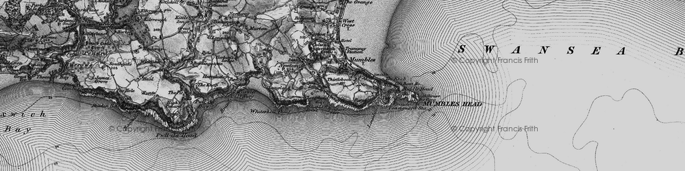 Old map of Mumbles, The in 1897