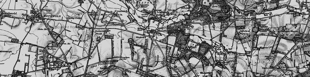 Old map of Mundford in 1898