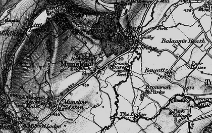 Old map of Aston Deans in 1899