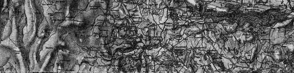 Old map of Withecombe in 1898