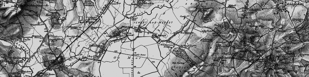 Old map of Whitecross Green in 1896