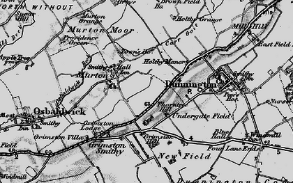 Old map of Yorkshire Museum of Farming in 1898