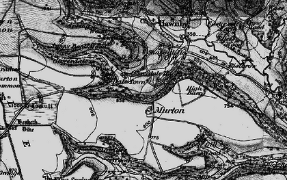 Old map of Wethercote in 1898