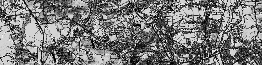 Old map of Alexandra Palace in 1896