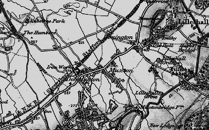 Old map of Lilleshall Grange in 1897