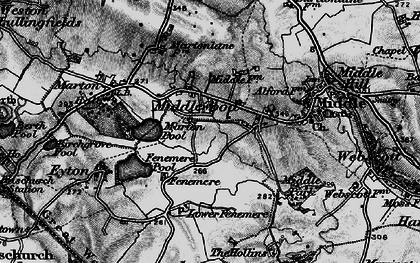 Old map of Leasows, The in 1899