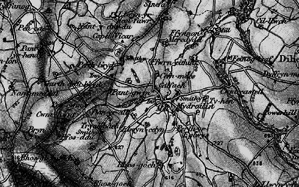 Old map of Afon Mydr in 1898