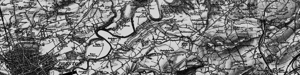 Old map of Alston Old Hall in 1896