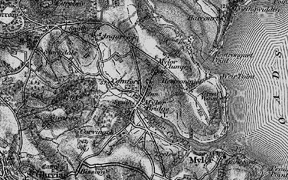 Old map of Mylor Bridge in 1895