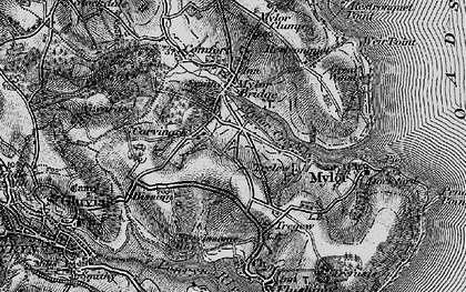 Old map of Mylor Creek in 1895