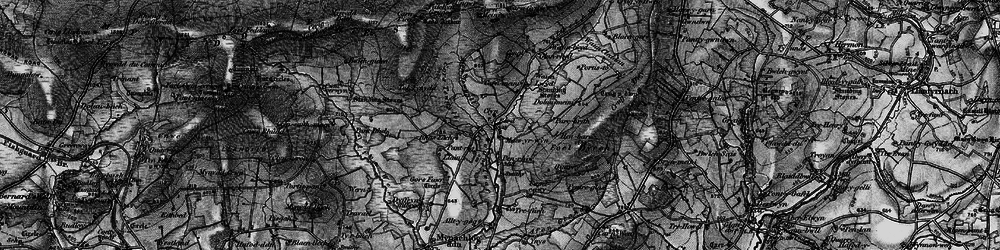 Old map of Ynysfawr in 1898