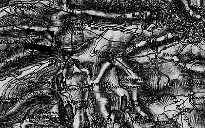 Old map of Banc Blaen Magwr in 1899