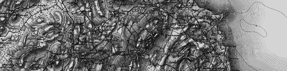 Old map of Afon Lligwy in 1899