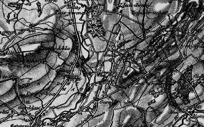 Old map of Allt-Cunedda in 1896