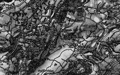 Old map of Afon Ydw in 1898