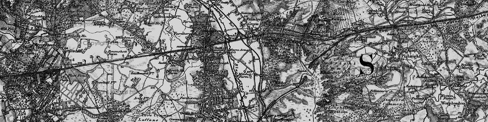 Old map of Mytchett in 1895