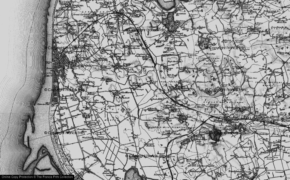 Old Map of Historic Map covering Todderstaffe Hall in 1896