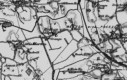 Old map of Todderstaffe Hall in 1896