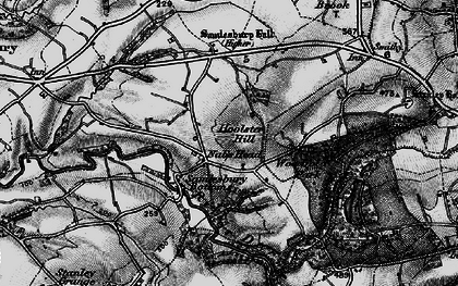 Old map of Woodfold Hall in 1896