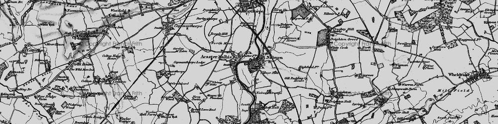 Old map of Naburn in 1898
