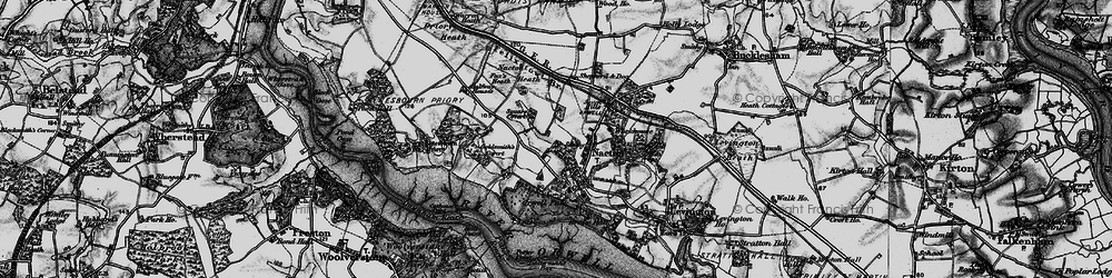 Old map of Amberfield in 1896